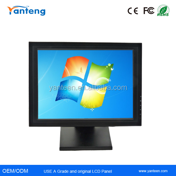 15inch VGA USB LCD touchscreen monitor with resistive touch screen