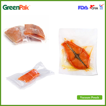 GreenPak Clear Packaging Bag Custom Print Pouch Vacuum Seal Food Bags