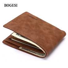 Leather wallet Pocket 3 Colors Fashionable Scrub leather Wallets for Men Bogesi wallet