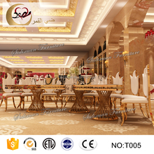 luxury white MDF top table and chair dining for wedding event