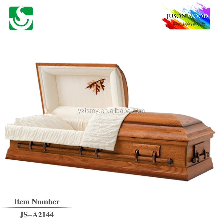Hot sale good quality regular funeral wood veneer casket