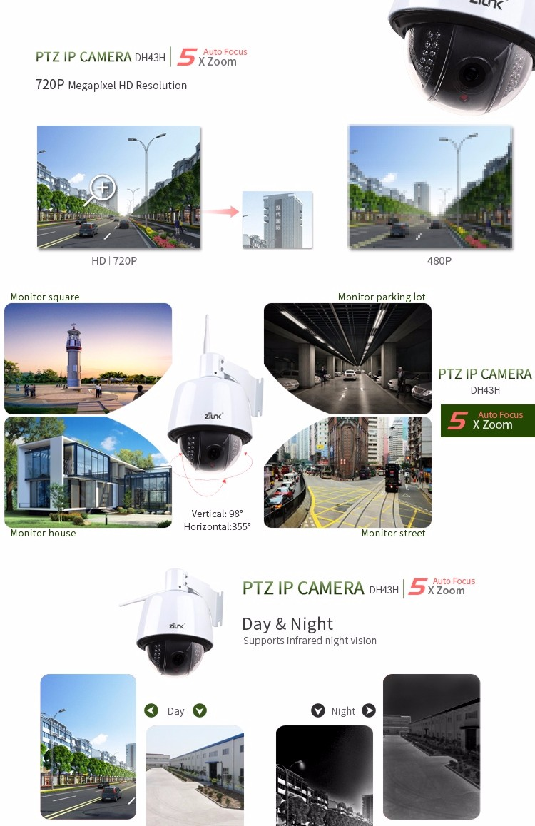 Aliexpress hot selling outdoor ip66 rating 4x zoom HD 960P ptz onvif ip camera