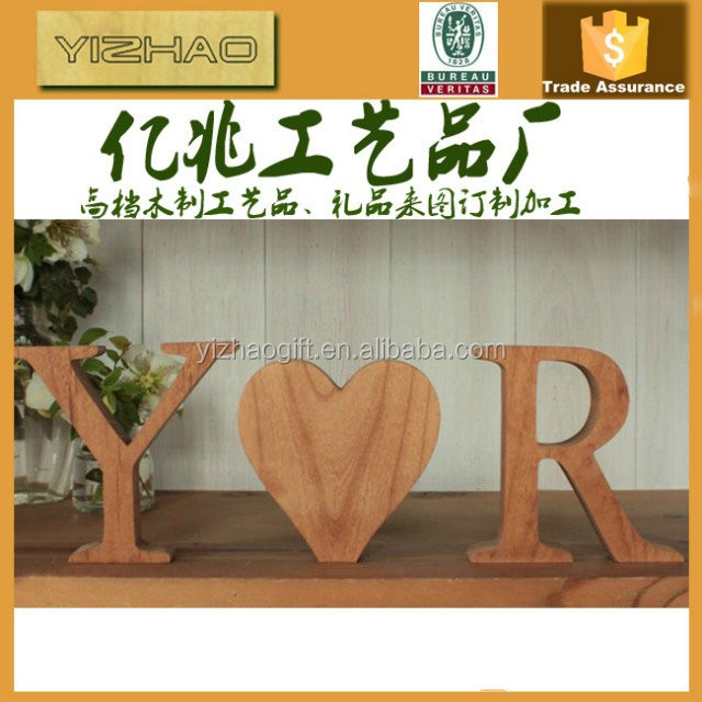 OEM Wooden Decorative Alphabet Letters With Painting (YZ-WL2011011)