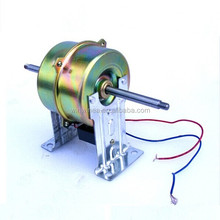 Double shaft electric motor for shoe polish machine