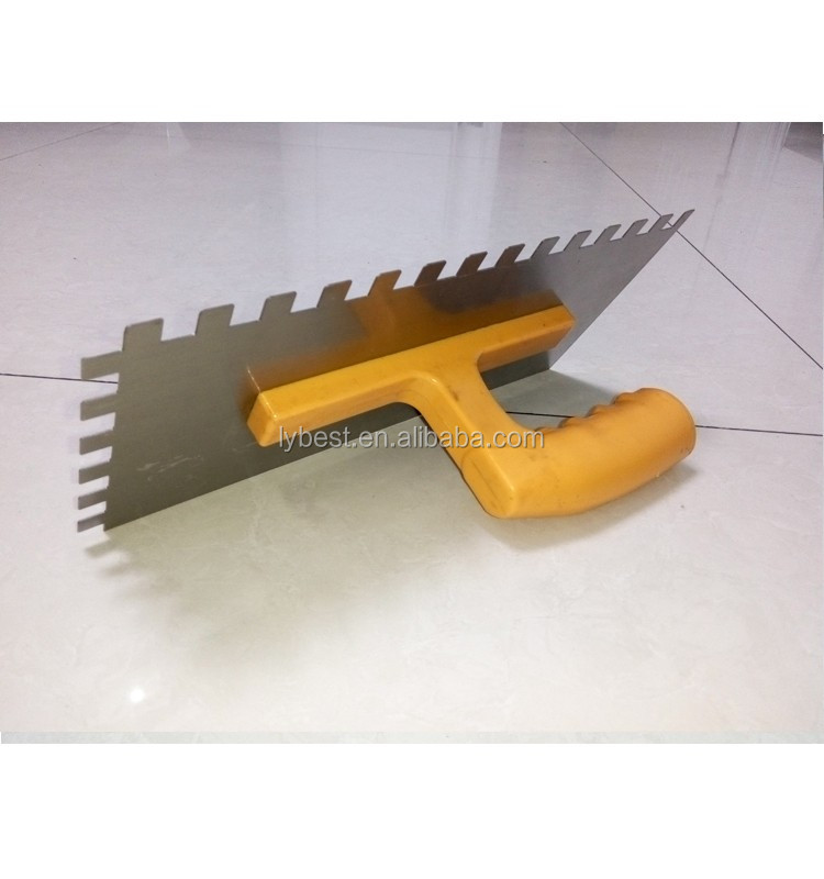 marshalltown plastering trowels with plastic handle for building construction