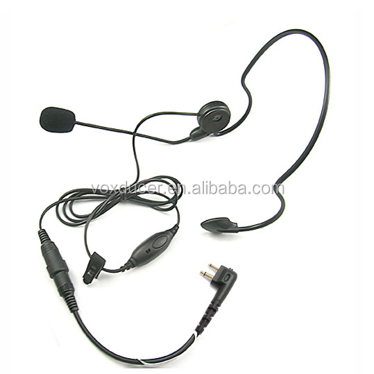 [M-E1360-M]Wholesale china factory headset for Motorola walkie talkie headphone with boom mic