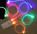2016 colorful led usb cable,micro usb canle for Samsung and iphone 6s