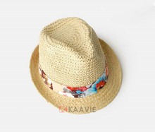 fedora folding real palm straw hat for mens