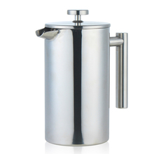 Hot Sale Double Wall Stainless Steel Coffee Press Palm Restaurant French Press Coffee Maker