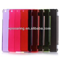 Transparent PC hard cover case for ipad air, clear case for ipad 5