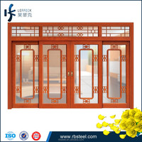 China solid wood door interior french sliding doors