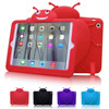 Kids fall resistent rugged tablet case silicone cute cartoon style case with stand function for ipad mini