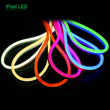 60pcs/m DC24V Led flexible neon led rgb strip light for outdoor contour decoration