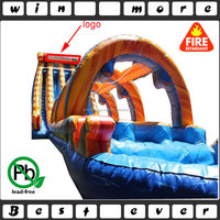 triple falls giant inflatable slide for adult, slip and slide inflatable for sale