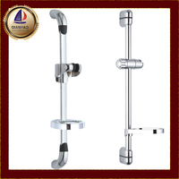 Qianyao chrome Stainless Steel Bathroom Faucet Accessory holder OEM adjustable shower bar soap dish