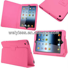Premium PU Leather Wallet Stand Case Cover for iPad Mini