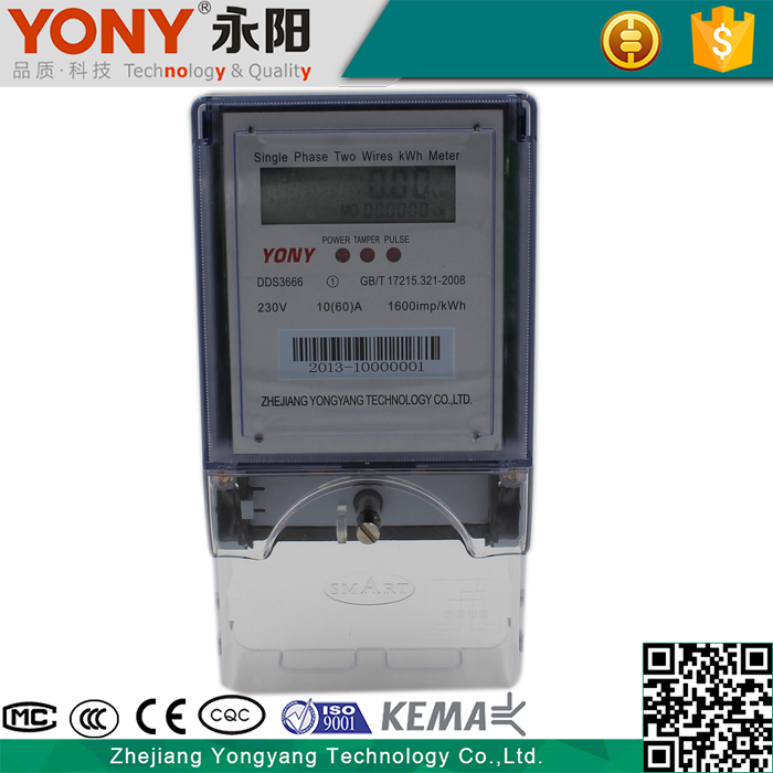 Durable using best reliability single phase digital meter reverse