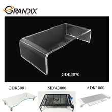 Hot sale desktop Customized computer stand ,Clear Acrylic Monitor Computer stand Riser Display Shelf Laptop Riser