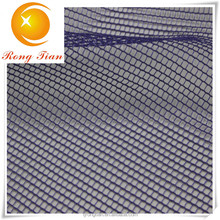 Blue 100 polyester thin square mesh fabric for bag lining