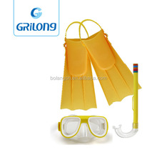 Water Sports Wholesale Cheap diving Mask Foot Pockets Fins for kids snorkeling 3 set