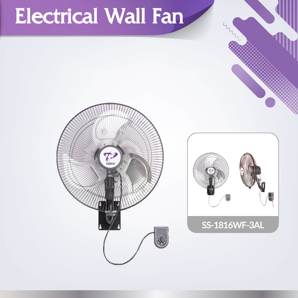 Cost effective high quality SS-1816WF-3AL indoor and outdoor cooling wall fan