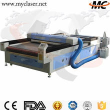 3 years warranty CNC CO2 sofa leather garment automatic fabric cutting machine