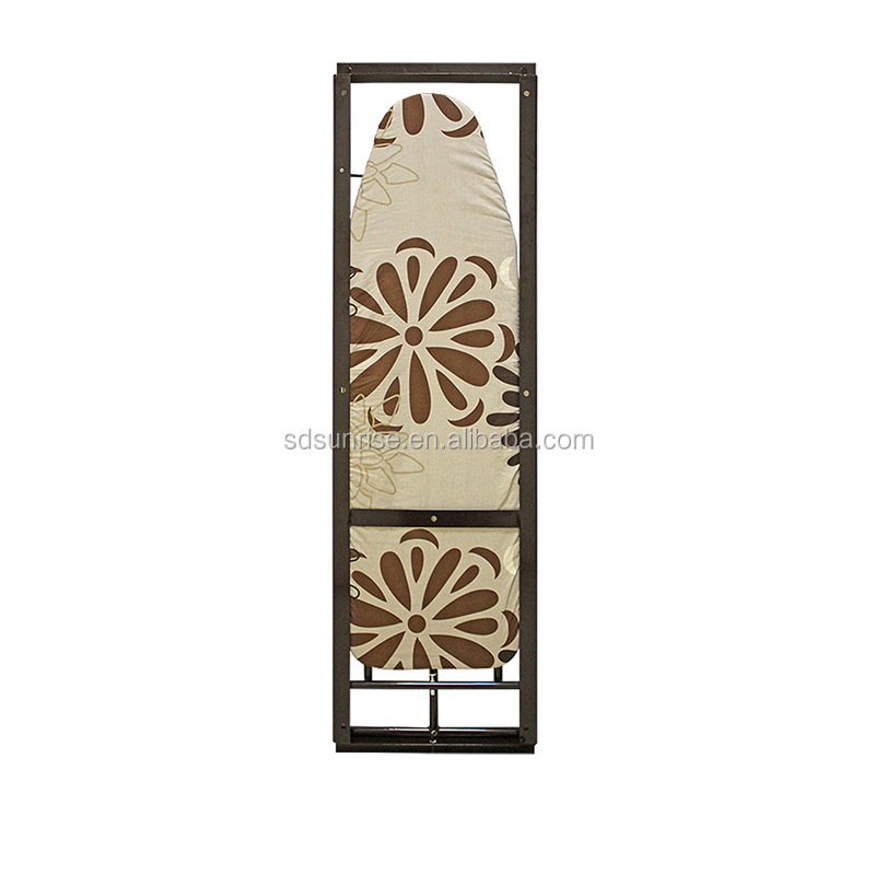 Floral pattern folding wall mounted Ironing Board