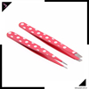 Stainless steel eyebrow tweezers with comfortable handle