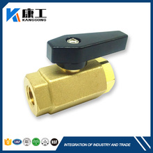 Trunnion Mounted Plastic Forged Handles Brass Galvanized Ball Valve