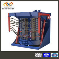 3 ton magnetic yoke electric induction iron scrap smelter