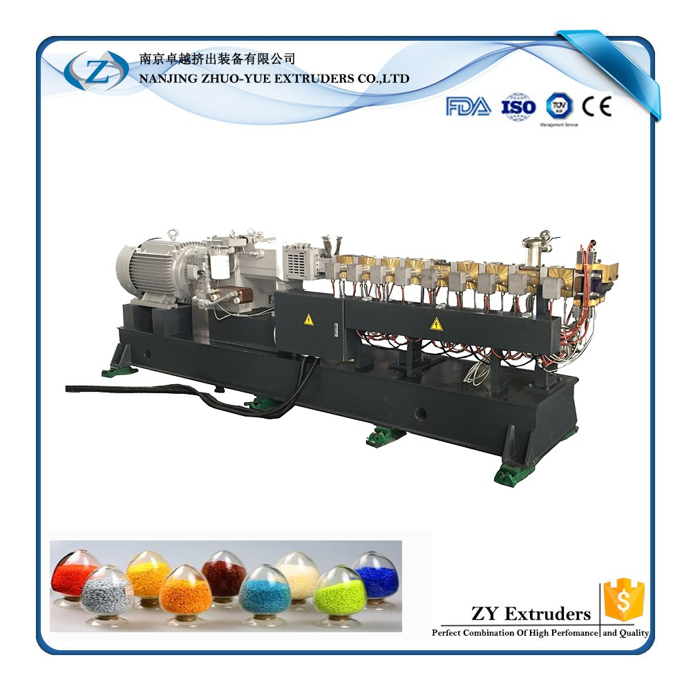 HTE Plastic extruder granulator machine making