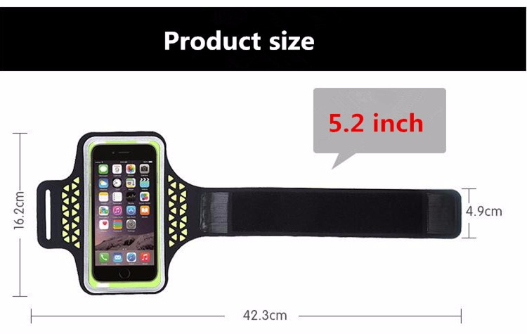HASSKY best mobile phone transparent touch screen sport armband for iphone 6 plus/ 7/ 7plus