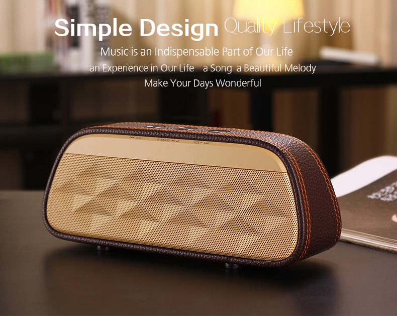 2017 new fabric leather stereo surround Blue tooth speaker subwoofer V3.0 wireless portable blue tooth speaker