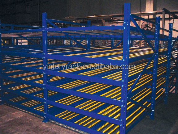 Flow through Racks,Economical lean pipe FIFO flow rack