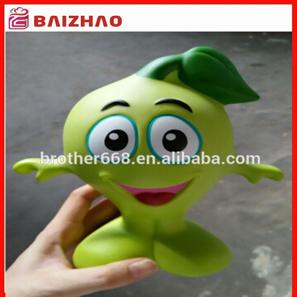 Big size Custom vinyl cartoon figure toys, plastic vinyl mascot toy figure, advertising vinyl coin bank mascot figure