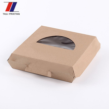 Hot sale F-flute corrugated window pizza packing box/custom cheap pizza boxes