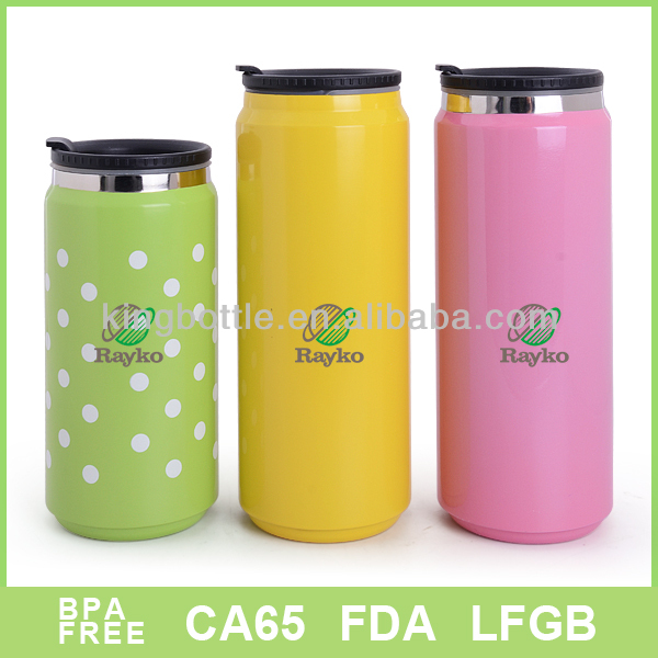 BPA free Colorful cola can different capacity with customized logo