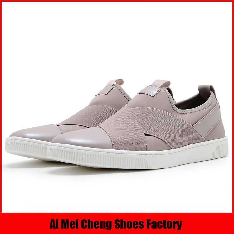 New mould leather Italian nude wholesale fashion women 2017 flat casual shoes