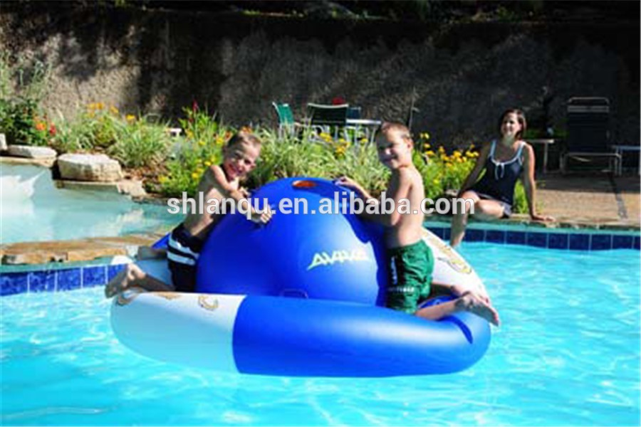 Inflatable rocking saturn,water park toys, crazy ufo towables