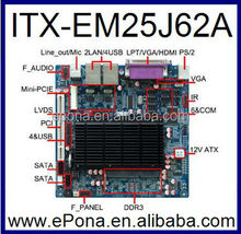 Intel Atom Cedar View D2550 based Mini ITX Industrial motherboard ITX-EM25J62A