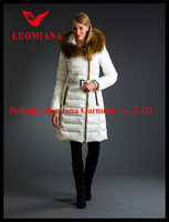 2015 new fashion oxon brand long-style down jacket for women in black