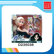 fashion model barbie doll with make up set D235036