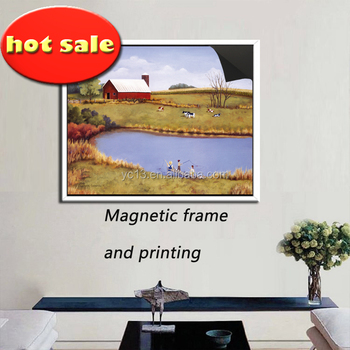hot selling poster use magnetic picture frame & print magnetic painting 1013-116