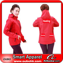 Stylish denim womens unlined jackets with high-tech electric heating system battery heated clothing warm OUBOHK