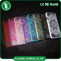 china wholesale Luxury Retro Royal design mobile phone cover Matte PC Sunflower Case for iPhone 6