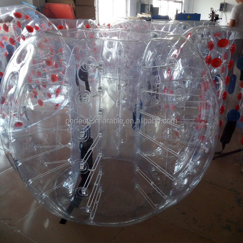 Newly design adult bumper ball for sale, inflatable sumo bumper ball games