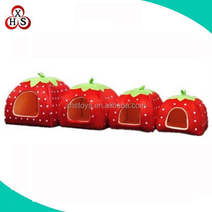 Strawberry Small Cotton Soft Dog Cat Pet Bed House