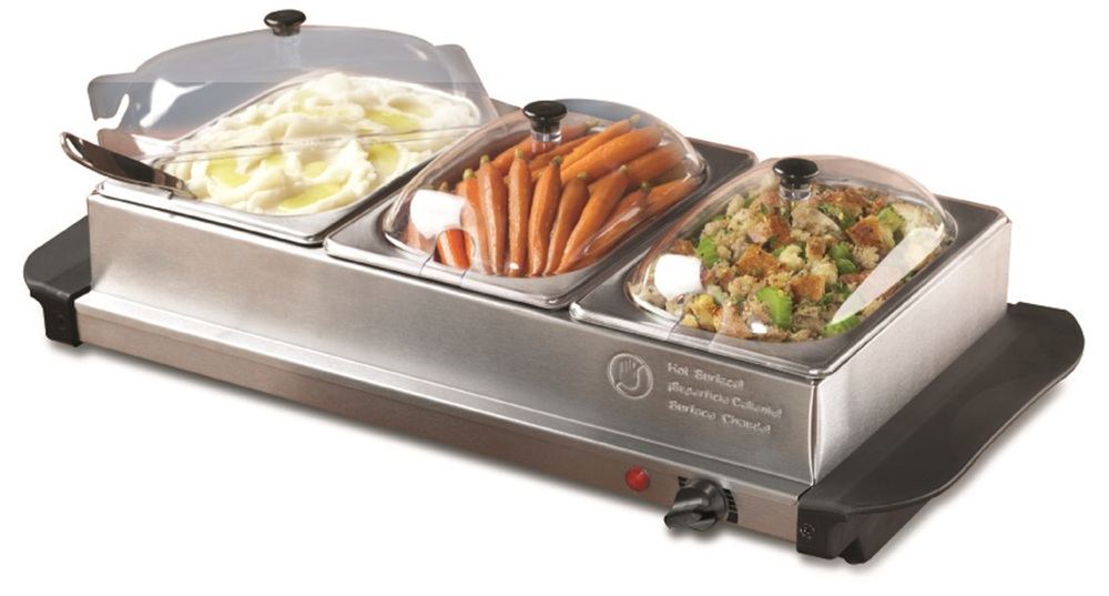 Electric Food Warmers Buffet ~ Electric tray buffet server stainless steel warmer food