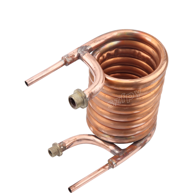 "Copper Counterflow Wort Chiller, 1/2""male NPT Wort In/Out, 3/4"" Male Garden Hose Water In/out, Brewing Equipment"