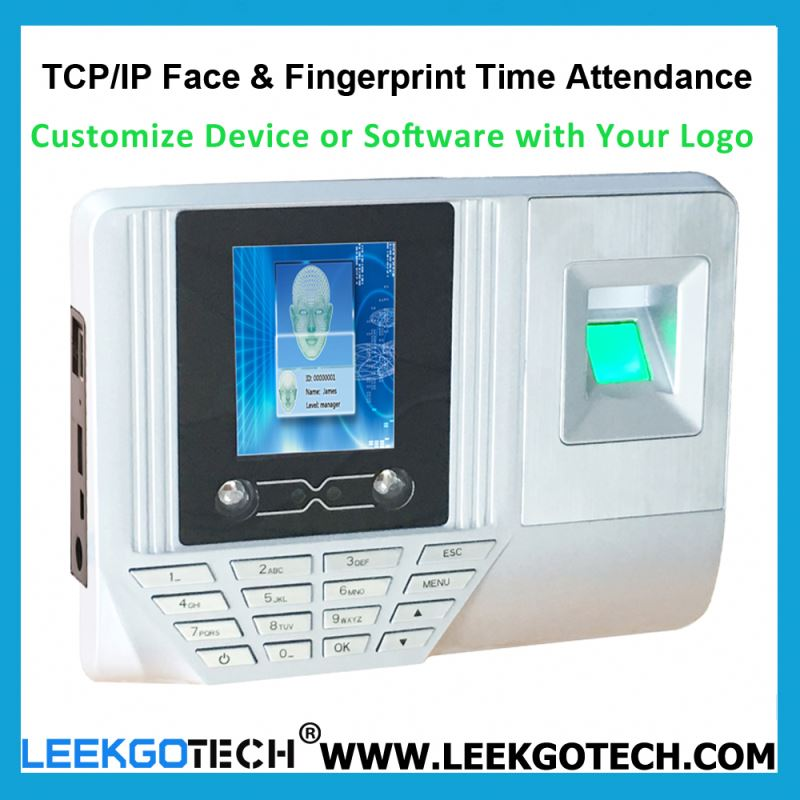 0.5S Fast Speed WiFi TCP IP USB Color Screen low price face recognition time attendance device